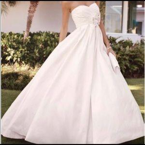 David's Bridal Galina Shantung Taffeta Ballgown